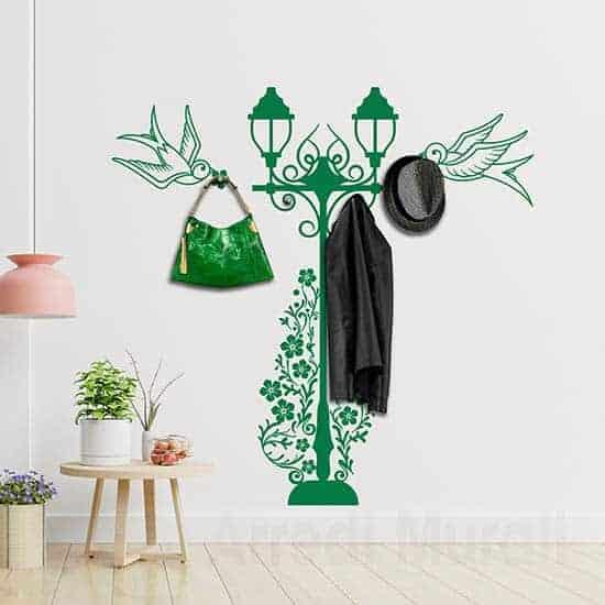 Adesivi murali appendiabiti rondini, decorazioni adesive utili