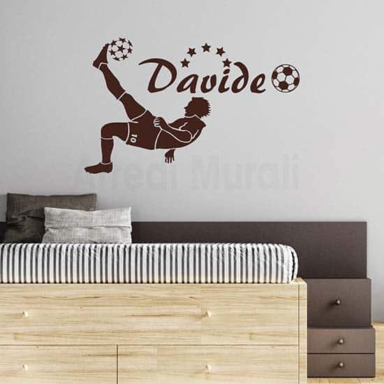 Adesivi murali calciatore personalizzato, per decorare