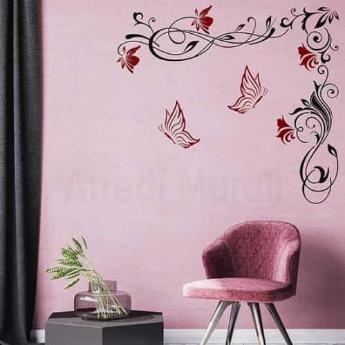Decorazioni adesive floreali grandi per pareti