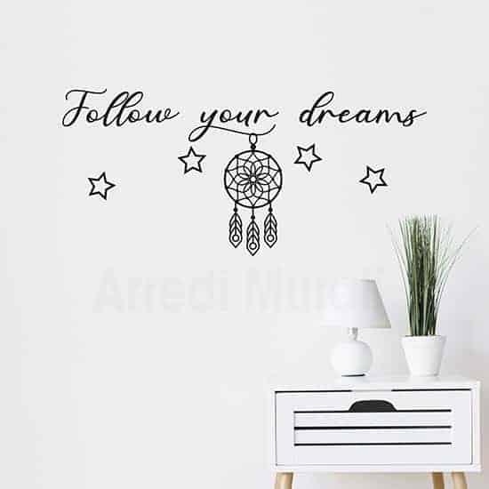 Frasi adesive per camera da letto, decorazioni da parete
