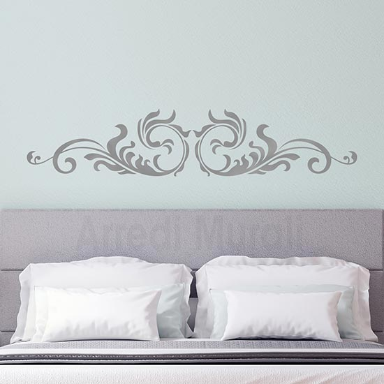 Wall stickers testata letto, adesivi da parete argento