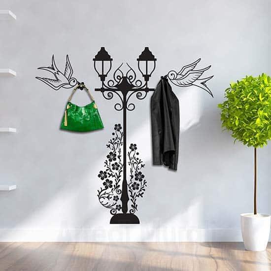 Adesivi murali appendiabiti rondini, decorazioni adesive