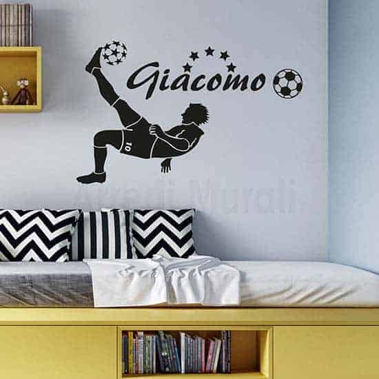 Adesivi murali calciatore personalizzato