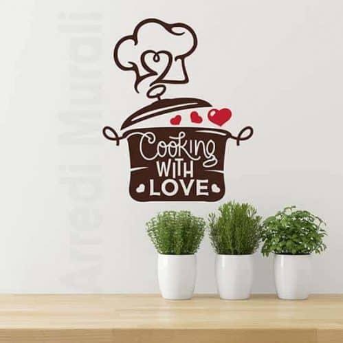 Adesivi murali per cucina con amore
