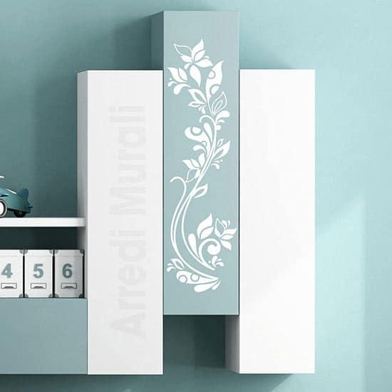 Stickers da parete fiori stilizzati bianchi
