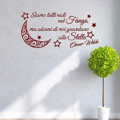 Stickers murali frase citazione Oscar Wilde