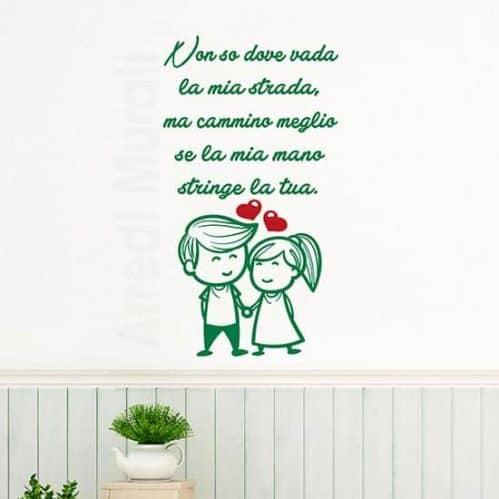 Adesivi da parete frasi love, decorazione adesiva murale