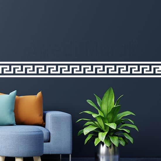 Greca adesiva da parete decorazioni murali bianche