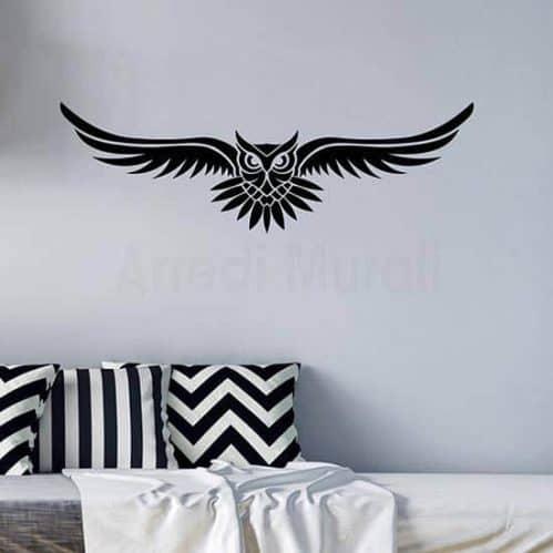 Adesivi da parete gufo tattoo decorazione murale