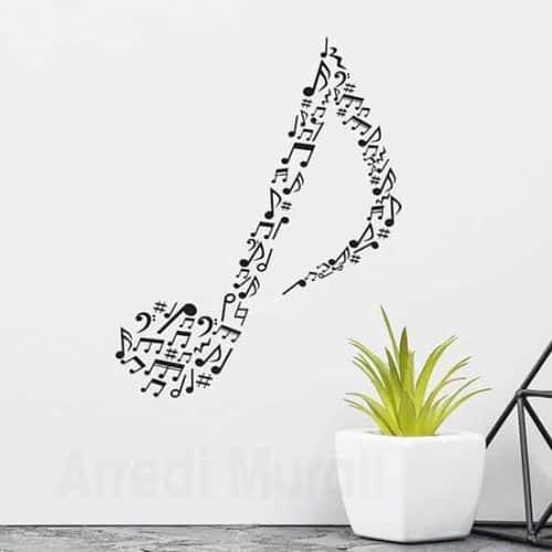 Adesivi da parete note musicali, decorazioni murali