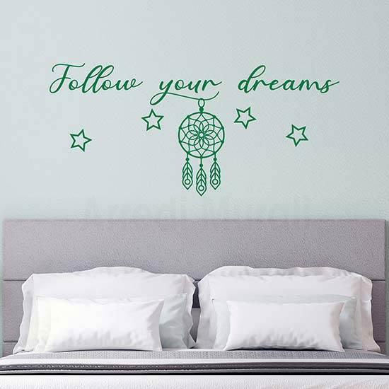 Frasi adesive per camera da letto, decorazioni murali