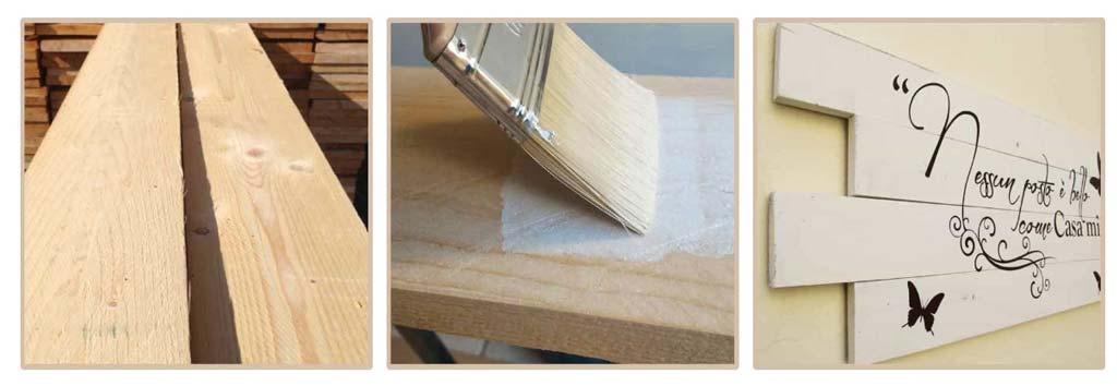 arredo pareti casa shabby pannelli in legno
