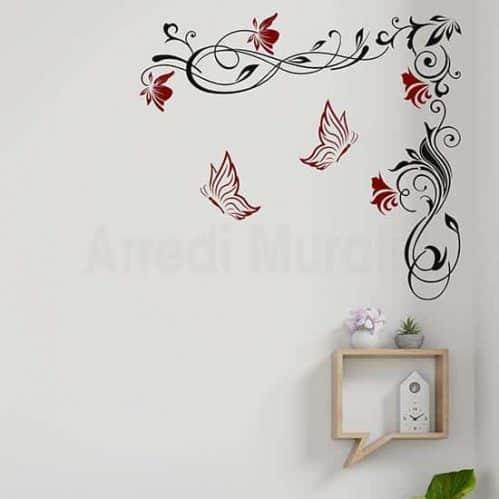 Decorazioni adesive floreali grandi, per arredare le pareti