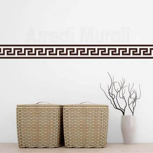 Greca adesiva da parete decorazioni murali marroni