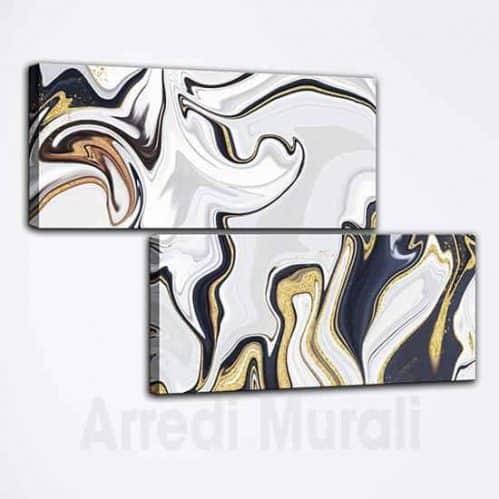 Quadri astratti due stampe moderne su tela, idee decorative per pareti
