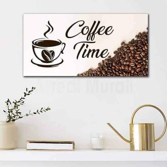 Quadro caffè per bar o per cucina, stampa su tela