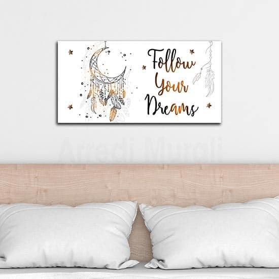 Quadro con frase per camera da letto, decorazione da parete