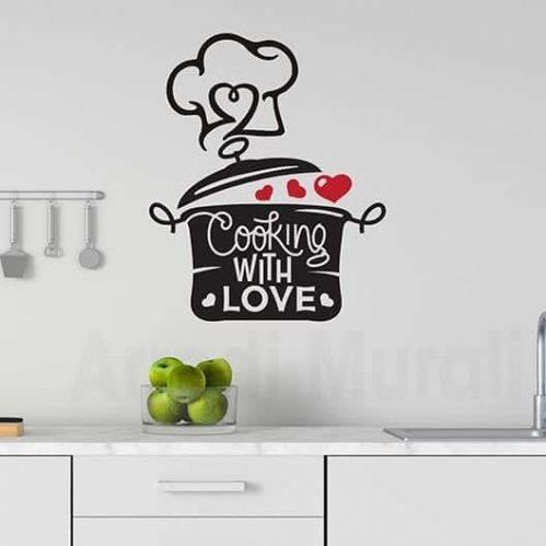 Adesivi murali per cucina con amore decorazioni adesive