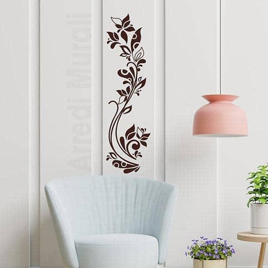 Stickers da parete fiori stilizzati verticali