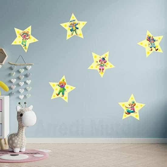Adesivi per bambini clowns murali per camerette