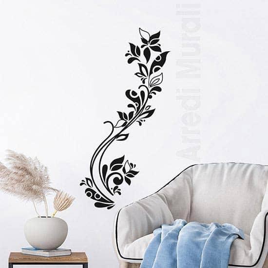 Stickers da parete fiori stilizzati verticali decorazioni floreali
