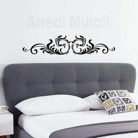 Wall stickers testata letto, adesivi da parete