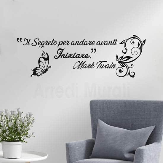 Citazione adesiva murale Twain, stickers per arredare le pareti