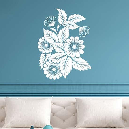Fiori adesivi da parete per la casa, decorazioni murali