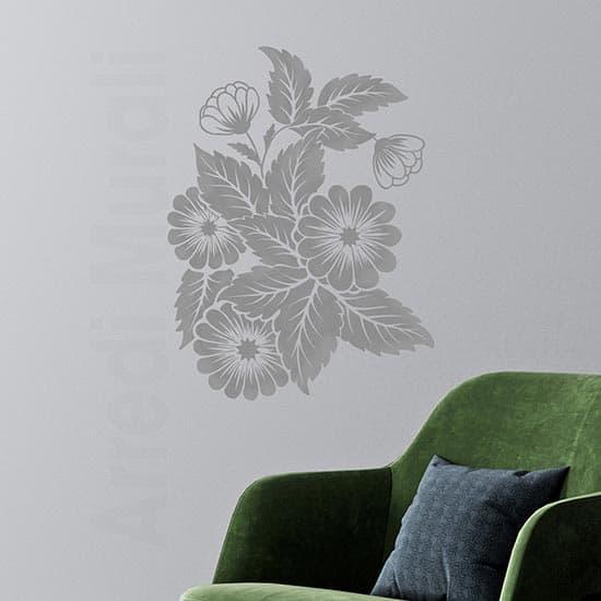Fiori adesivi da parete per la casa, decorazioni floreali