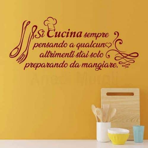 Frasi adesive per le pareti della cucina, decorazioni murali
