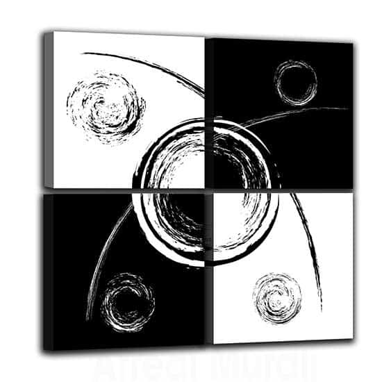 Quadri astratti quattro stampe su tela moderne