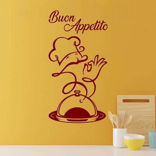 Adesivi per la cucina buon appetito, decorazioni murali