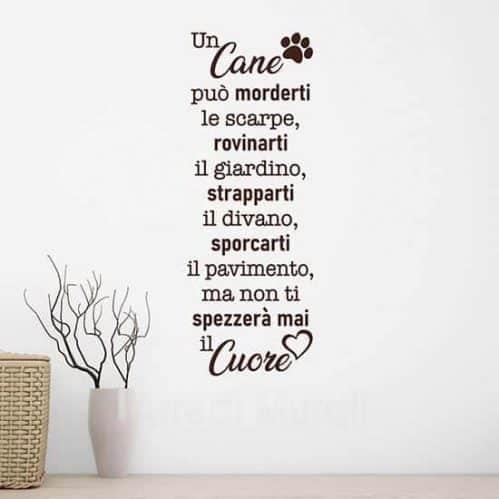 Frase adesiva da parete sul cane, decorazioni murali