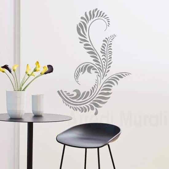 Decorazioni adesive da muro floreali
