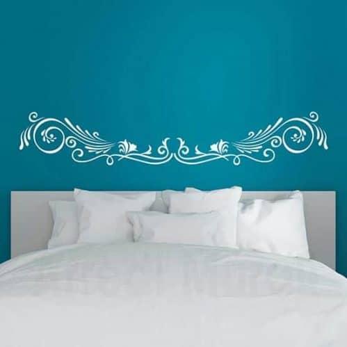 Decorazione adesiva floreale per letto, adesivi murali