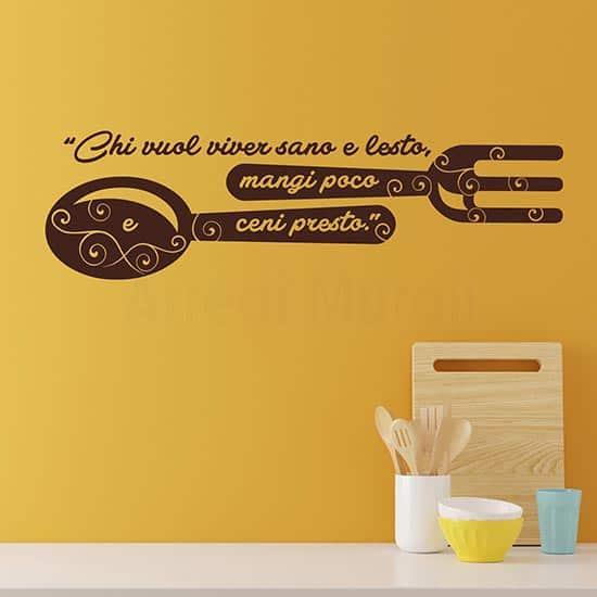 Scritte adesive murali per cucina, adesivi da parete