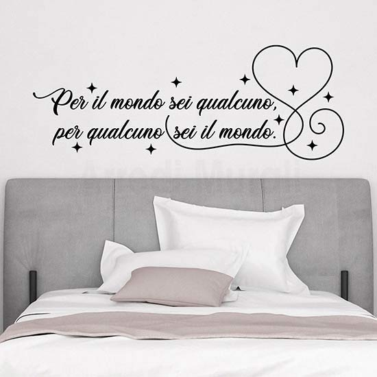 Adesivi con frasi per camera da letto, decorazioni da parete