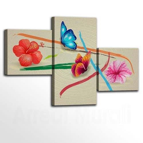 Quadri con fiori stampe su tela