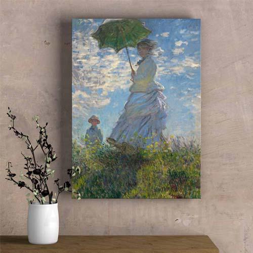 Riproduzione quadri famosi donne di Monet con madame Monet e suo figlio