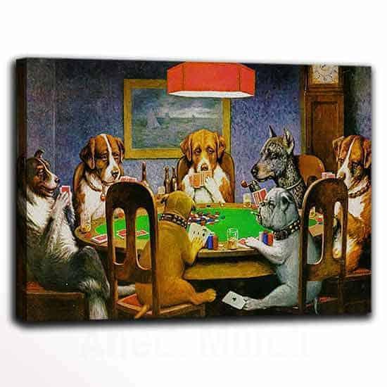 Quadri famosi poker con cani