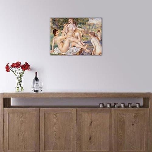 Quadro celebre di donne Le bagnanti di Renoir riproduzione su tela