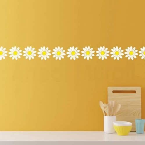 Adesivi murali fiori margherite decorazioni adesive da parete
