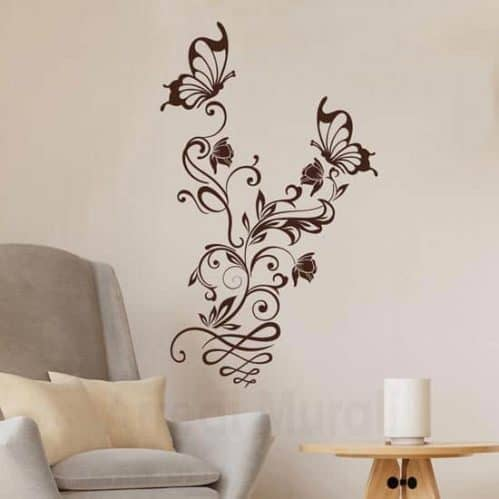 Wall stickers fiori e farfalle