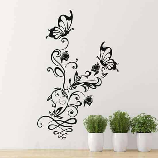 Wall stickers fiori e farfalle decorazioni adesive