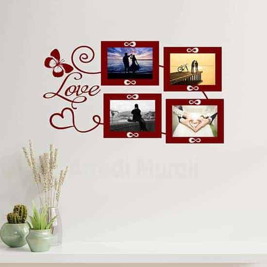 Adesivi cornici foto love, decorazioni adesive