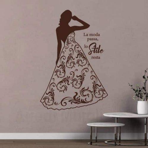 Adesivi murali moda donna, decorazioni da parete