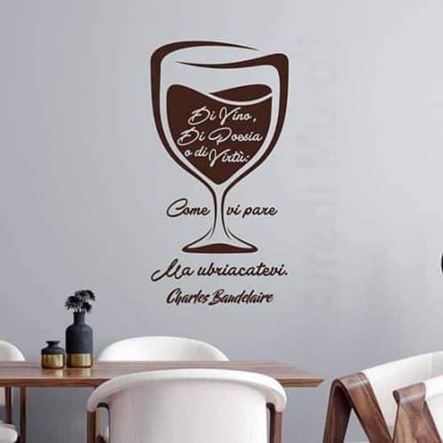 Adesivi murali citazione Baudelaire, decorazioni da parete