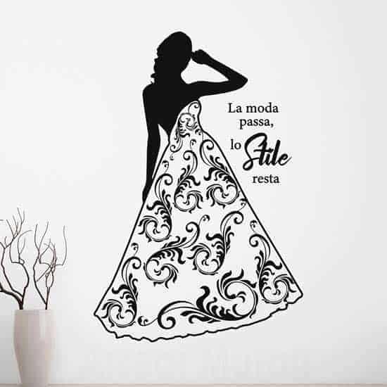 Adesivi murali moda donna