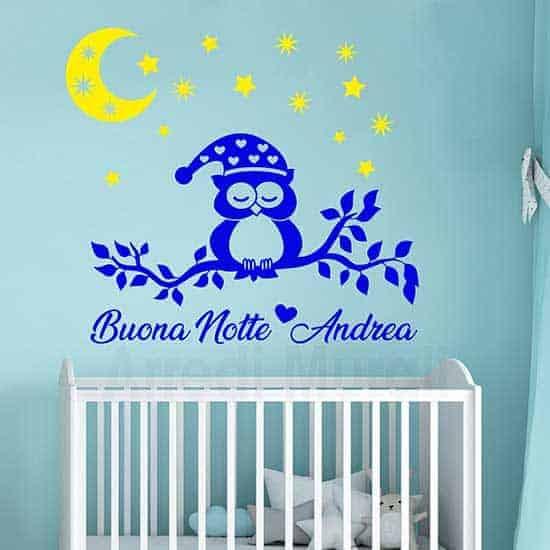 Adesivi personalizzati per la cameretta dei bambini, decorazioni