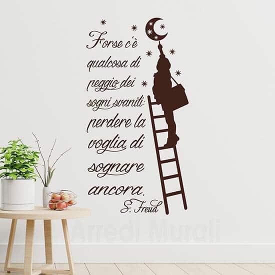 Citazione adesiva da parete di Freud